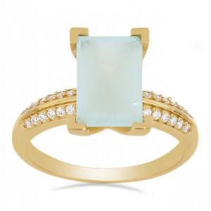 Inel Zoe -argint placat cu aur VR033234 Calcedonia