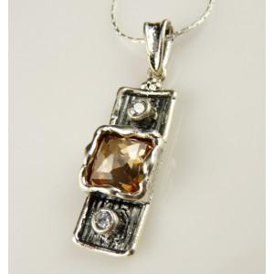 Pandantiv argint champagne quartz A20960