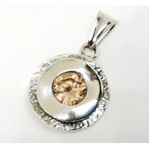 Pandantiv argint champagne quartz E1366-1481
