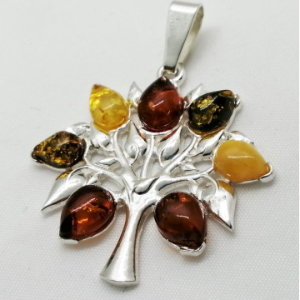Pandantiv argint chihlimbar -Arborele Vietii-P3052-1