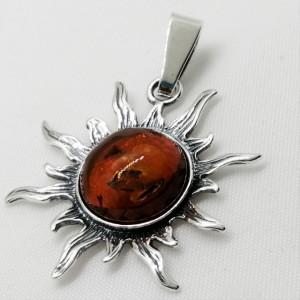 Pandantiv argint chihlimbar P389