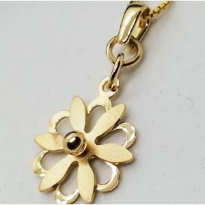 Pandantiv -argint placat cu aur galben-CNBA3008 -Floare