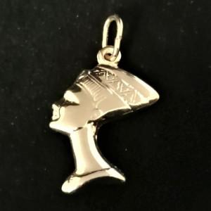 Pandantiv -argint placat cu aur galben-CNST0059AG -Nefertiti
