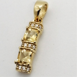 Pandantiv BETTY - argint placat cu aur -VP013536 citrin