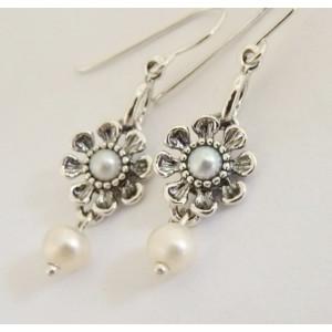Cercei argint cu perla E2420