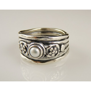 Inel argint perla R580