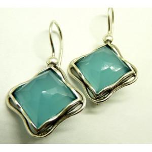 Cercei argint blue ocean quartz E3465