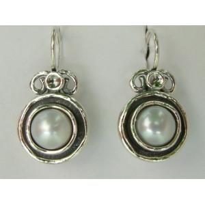 Cercei argint perla -E487