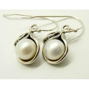 Cercei argint perla -E7557
