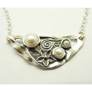 Colier argint perle N9442-1