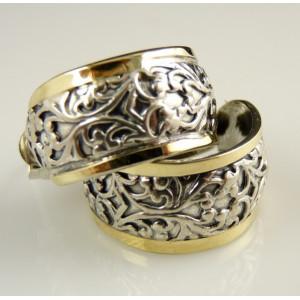 Cercei argint si aur 14k-cu surub-201089