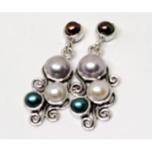 Cercei din argint cu perle E6910