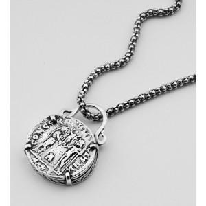 Colier argint - inspiratie monede romane- N1041