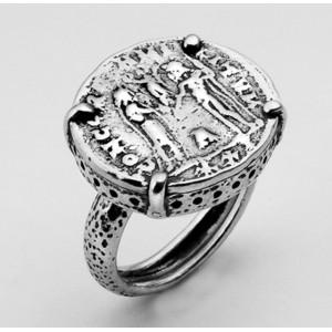 Inel argint R563 - Adam si Eva