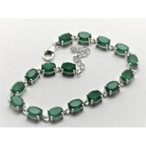Bratara argint onix verde -VB015957
