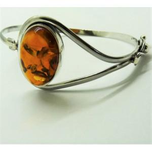 Bratara argint chihlimbar B3006-5