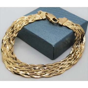 Bratara argint placata cu aur in 8 lanturi -CTBTBP6LI8F35- B