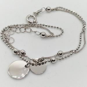 Bratara VERONA-cu banuti -argint -BRPU1502RHTO