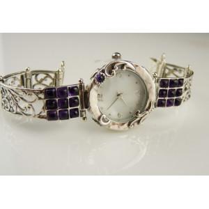Ceas argint cu ametist- W3581