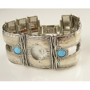 Ceas argint masiv-opal -W707