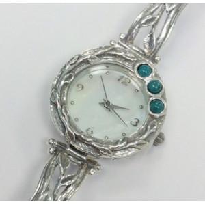 Ceas argint turcoaz W9252