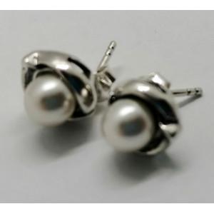 Cercei argint cu perla E3490