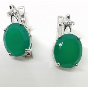 Cercei argint onix verde -VE014176