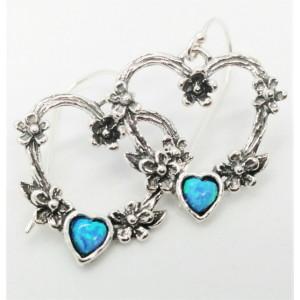 Cercei argint opal-E9203