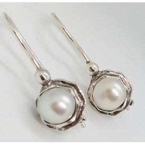 Cercei argint -perla E2543