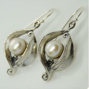 Cercei argint si perla E11016