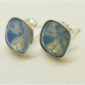 Cercei argint Swarovski E2604-bleu ciel
