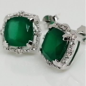 Cercei argint -VE015903 onix verde