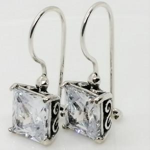 Cercei argint zircon E4304