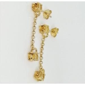 Cercei Danielle -argint placat cu aur - citrin VE018063