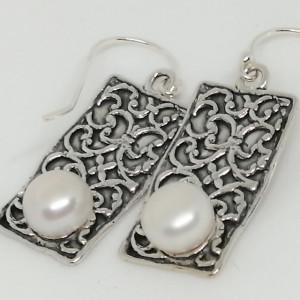 Cercei din argint perla -E10456