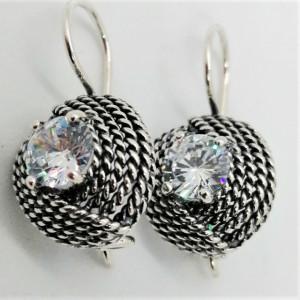 Cercei din argint si cubic zircon-E1683