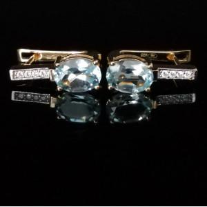 Cercei Maria -argint placat cu aur galben- VE015725-topaz