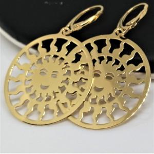 Cercei Soare din argint placat cu aur galben -E3437