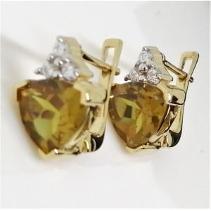 Cercei Sophie -argint placat cu aur si nano zultanit VE014552
