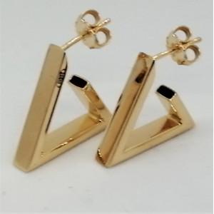 Cercei triunghiulari SASSARI- argint placat cu aur galben ORGA0261AG12