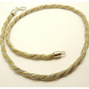 Colier argint -placat cu aur galben- CTAC1803RBG