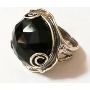 Inel argint cuart fumuriu-dark - R7340-1