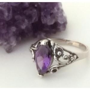 Inel argint delicat E1866- zircon violet
