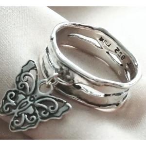 Inel argint fluture R7757