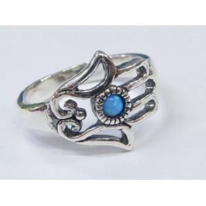 Inel argint Mana Fatimei R2273 - opal imperial