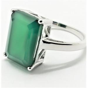 Inel argint onix verde -VR016010