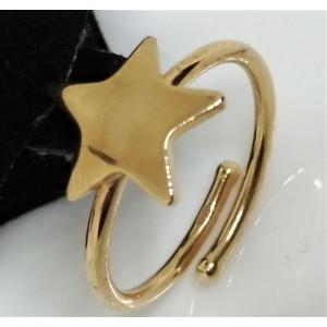 Inel argint placat cu aur galben -STEA -ANON0042PLSTR-reglabil