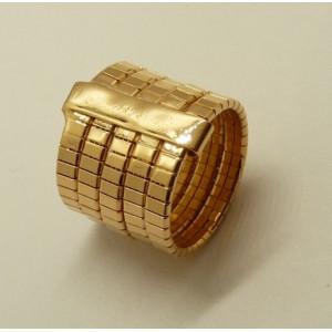 Inel argint placat cu aur roz ANOMO100PL5FR
