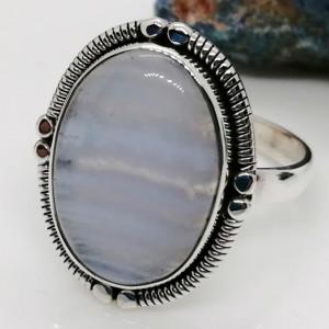Inel argint - R35-1 blue agat