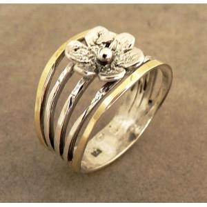 Inel argint si aur 14K -102630